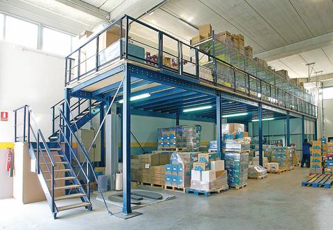 Structural Steel Mezzanine Floor