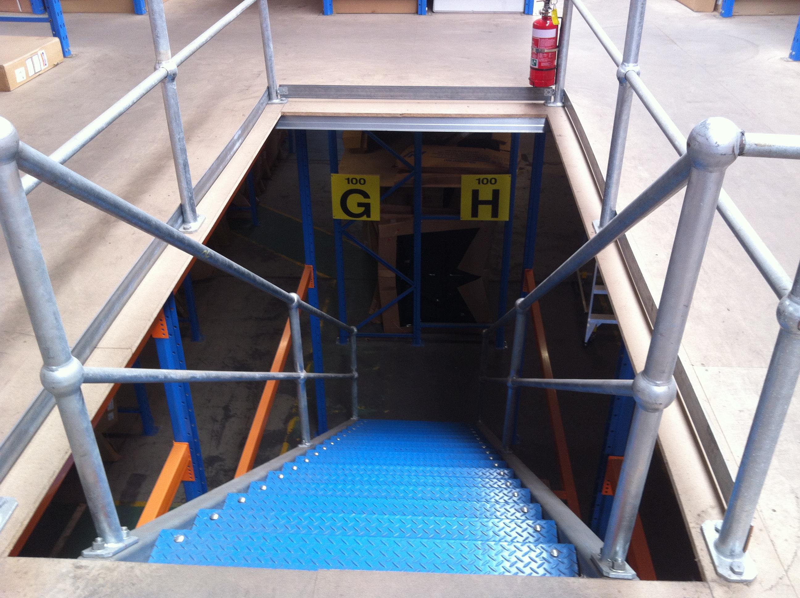 Mezz Steel Stairs Mezzanine Floors Sydney - Dynamic Racking